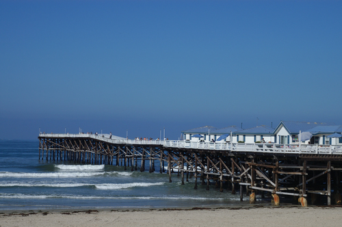 Ocean piers for Crystal pier fishing